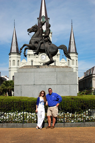 Dan and Nicole in Jackson Square