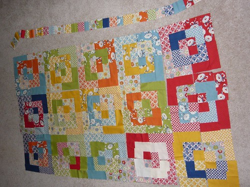 recess bento box quilt - day 1