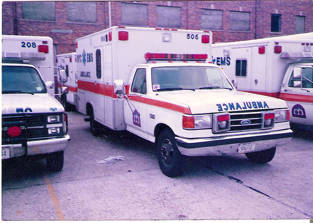nyc bus ford ambulance 1993 1980s ems fdny f350