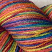 *Kaleidoscope* 3.5 oz Merino sock yarn
