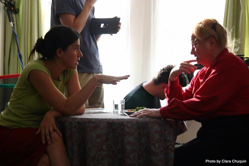 Valeria Ruiz dirigiendo