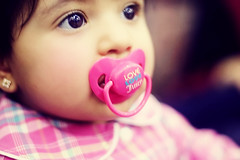 (Fashionista' [QTR]) Tags: pink baby 3 cute love girl beautiful earings look nose juicy eyes innocent tiny cheeks pj plaid chubby fashionista jojo pacifier petit pajama aljazi jazooya jzjz aljathi tefihi l777dytoob ista3furallaho