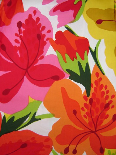 1970's Abstract Floral Fabric