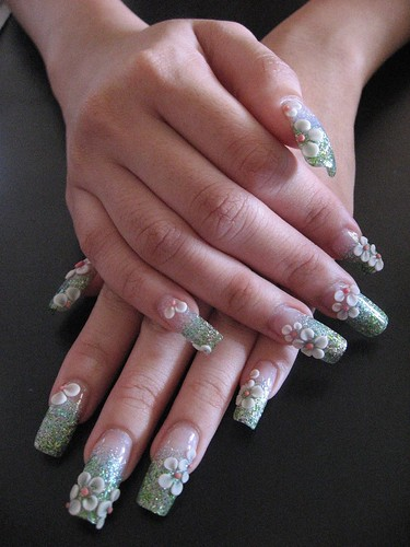 nail Acrylic 3D flowers Nails Designs nail art designs gallery