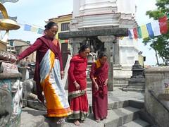 Swayambhunath, Katmandu, Nepal (balavenise) Tags: nepal shrine god buddha prayer religion buddhism prayerflags katmandu swayambhunath prire devnagari  flickrgiants