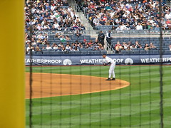 New Yankee Stadium 33 (James Gaddis) Tags: new nyc newyorkcity 2 ny game net field grass ball spring cathedral audience baseball stadium bronx empty cleveland crowd bat lawn pride player pole seats captain legends ready indians fans players tradition netting yankees legend clevelandindians position infield yankeestadium greatness stands mlb pastime pinstripes shortstop foulpole derekjeter