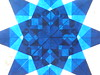Blue 8 Pointed Star Closeup