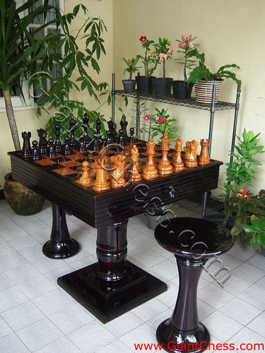 Beautiful Teak Chess Table For Your Patio