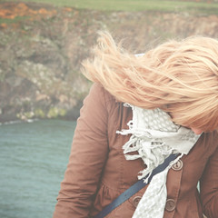 (mister sullivan) Tags: uk portrait cold west wales hair seaside long whitesands air windy blonde anonymous pembrokeshire stdavids buttonmooon bythewaterside
