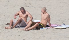 2 buddies catching some rays and enjoying the sites (buffntuff28) Tags: shirtless kite beach pecs flying arms muscle muscular chest models hunk surfing buff volleyball flex biceps humpy hotmen hotstuds musclemen day national kite flying humpyhunk