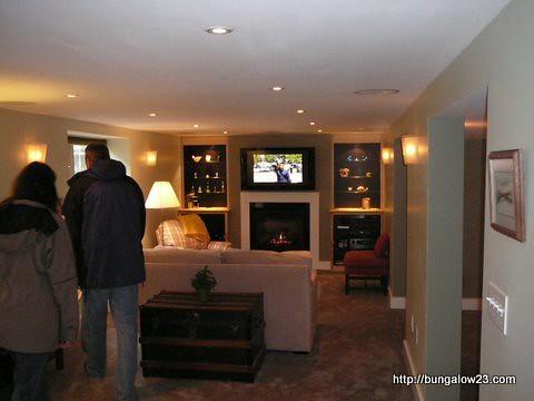 Modern bungalow basement