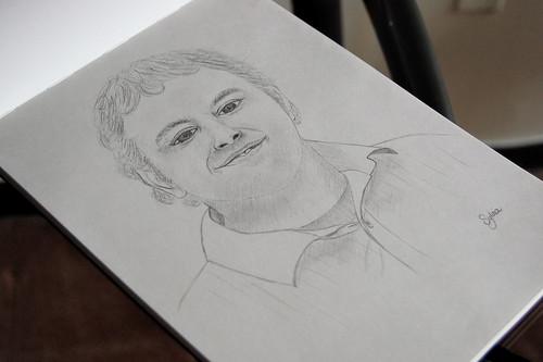 Dibujando a Sergio