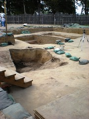 Archeological digs at Jamestowne Historic Nati...