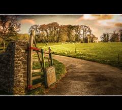 Country Retreat (Finntasia old) Tags: house broken sign rural countryside wooden gate estate sheep farm retreat repair dorset worn fields finntasia comptonvallance nigelfinn