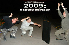 2009 a Space Odyssey - The Monkeys and the Monolith (Pozor Vlak) Tags: friends dave night movie monkey kubrick joke parody monolith idiots 2009 2001spaceodyssey