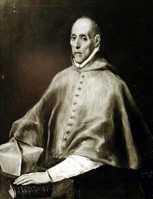 Cuadro de El Greco roto a cuchilladas (Retrato del Cardenal Tavera) tras ser restaurado. Archivo Rodríguez