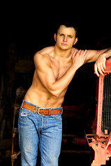 Nikon Photo 364 ed snap (*brynne) Tags: shirtless tractor man cute sexy male guy green muscles barn belt model eyes jaw gorgeous handsome jeans pack attractive strong denim strength biceps six toned abs tone physique bosnian appealing pecks