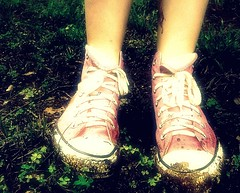 Mud. (*//wne_) Tags: family pink friends red cars girl rain project mom three weird woods memorial day mud random brothers hawk matthew cousins five bored obsession dirty boring pingpong seven gross converse 365 jonas clovers muddy cookout simi sixty 365project threesixtyfive strictlypinkconverse