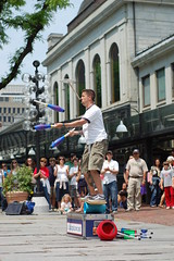 Juggling and spinning plate