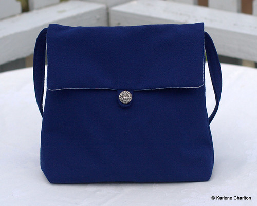 Little blue hand bag