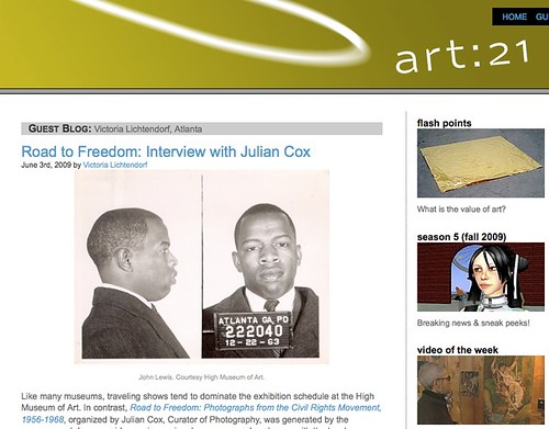 ART 21 Interview with Julian Cox, Photography Curator at the High Museum