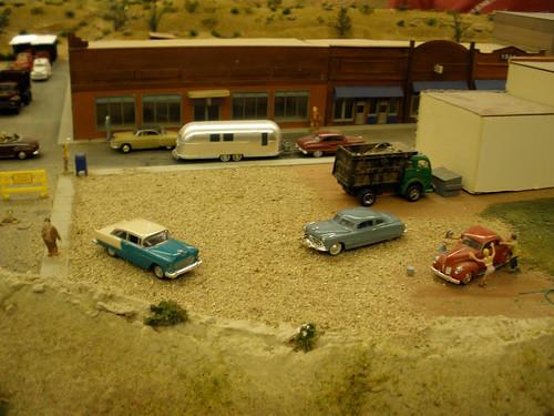 main street. miniature town