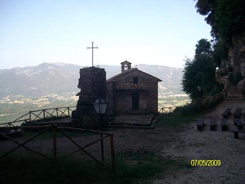 Vista del Santuario superiore - Santuario dello Speco