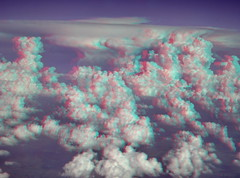 3D Clouds from airplane window (D.Broberg) Tags: window clouds canon airplane 3d aerial stereo chacha sequential redcyan analgyph sd1000
