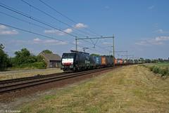 E189-091 ERS bei Venlo-Horst (CargoFighter) Tags: br venlo 189 ers dlken kijfhoek es64f4 e189091 erslogo