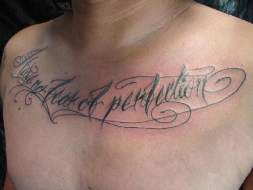 my new tattoo salvador dali s quote have no fear of perfection