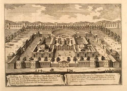 015- Las Temas del emperador Dioclesiano-Entwurf einer historischen Architektur 1721- © Universitätsbibliothek Heidelberg