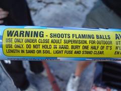 Warning - shoots flaming balls
