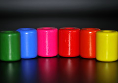 Cylinder (Dirgnie) Tags: pink blue red orange green yellow beads rainbow cylinder 2009challenge 2009challenge183