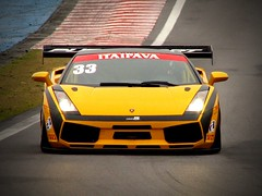 Lamborghini Gallardo (Alemiro Jr.) Tags: auto car sopaulo headlights front coche carro supercar interlagos ferrarif430 lamborghinigallardo canons3 motosport gt3brasil alemiro alejr itaipavagtbrasil