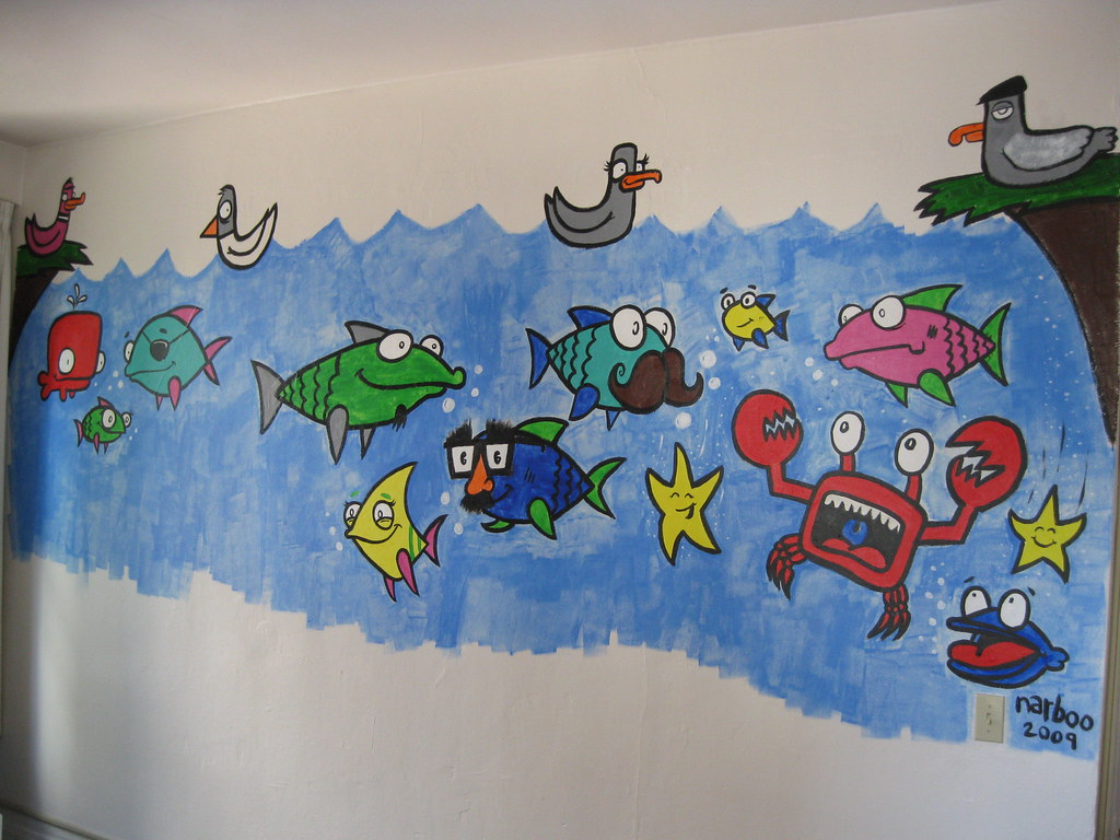 kids playroom mural