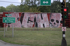 Ich (Hear45) Tags: minnesota train graffiti minneapolis mpls spraypaint ich mn freight aerosolart ichabod graffitiart wholecar endtoend railraod benching toptobottom freightart