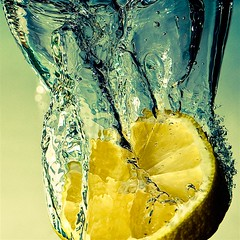 High Speed Photography Experiments () Tags: topf25 water fruit lemon flash sigma splash 1770 10000 citron highspeed   arduino pentaxart
