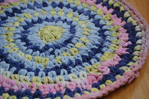 Hand dyed rag rug