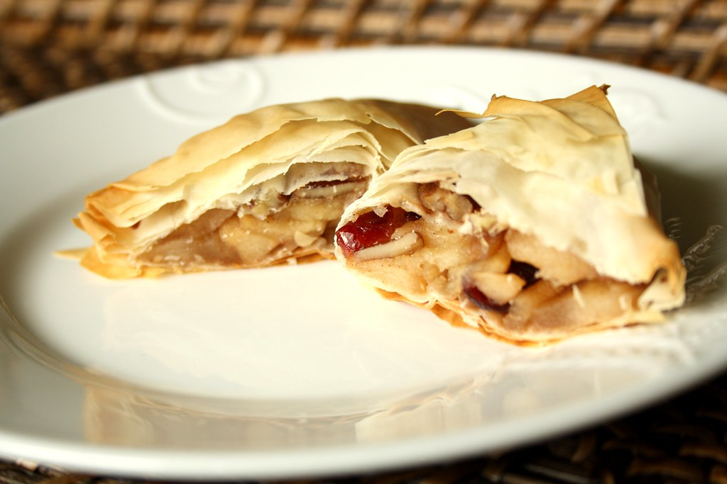 Ellie Krieger's Apple Cranberry Phyllo Turnover
