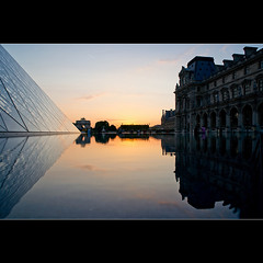 Reflts du soir au Louvre (Zed The Dragon) Tags: city morning bridge light sunset sky paris france building skyline architecture skyscraper photoshop reflections french landscape geotagged effects photography iso200 photo europe flickr cityscape view minolta photos louvre sony capital sigma best musee full fave most frame faves 100 24mm f80 fullframe alpha pyramide reflets postproduction hdr highdynamicrange sal lelouvre zed francais lightroom historique effets storia parisien 2470f28 photomatix 24x36 poselongue a850 0005sec sonyalpha hpexif 100commentgroup exdgmacro dslra850 alpha850 mygearandme zedthedragon 100coms