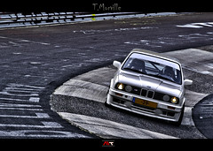 Old times  BMW E30 - Nurburgring Nordschleife (HDR) - Germany (Thomas Morville (on holidays)) Tags: road street old light summer white black france colors car sport monster germany dark photography grey gris shark photo raw noir pentax lumire couleurs wheels tire super front voiture peinture m route sombre german bmw poison t 70300mm rue circuit allemagne blanc phare generation hdr avant pneu feu e30 roue monstre gomme pilote lethal clairage arrire moteur nordschleife nrburg jantes goudron haricot allemande k100d parechocs rhnanie devastatingly germanlook foudroyant foretforest automobileauto nurbrgring oloneo intercooleur bmwmercedesporscheaudivolkswagen