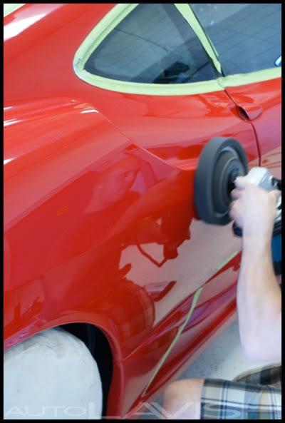 autolavish polishing a ferrari