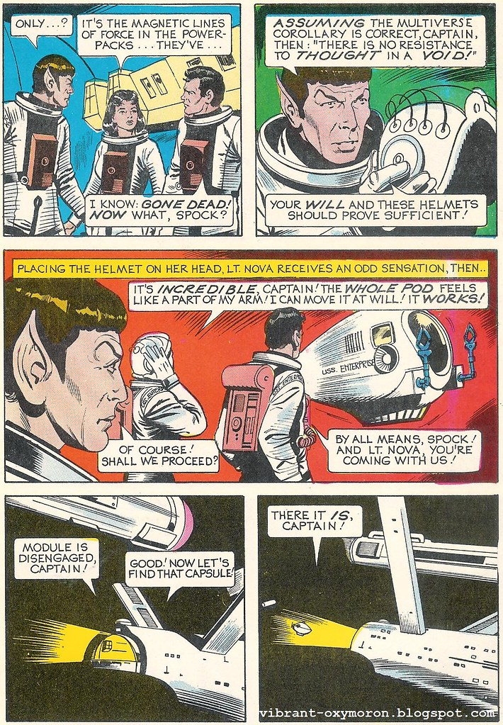 star trek comic scan spock kirk uhura scotty dynabrite whitman vintage