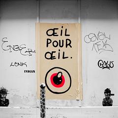il pour il - BC (BC - VNBC) Tags: streetart paris pasteup collage poster bc dessin oeil yeux affiche loi il