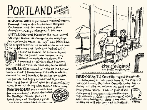 Portland Sketchnote Travelogue: 01-02