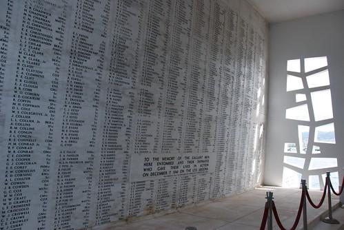 USS Arizona Memorial's Somber Wall of Names