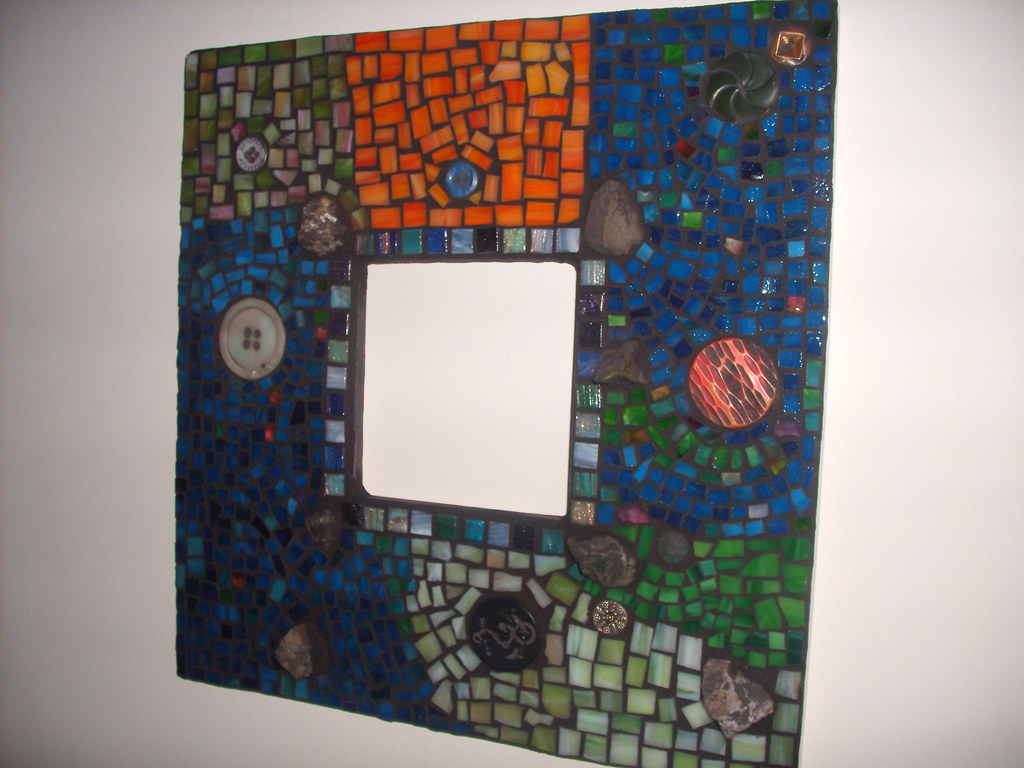 mirror frame for Sabrina grouted 02-16-09