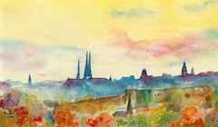 Art: aquarelle: ... la rencontre de Luxembourg...Skyline - city of Luxembourg (Nadia Minic) Tags: art nature skyline watercolor painting photo interestingness nadia europe artist gallery foto kunst aquarelle kultur culture galerie exhibition exposition painter watercolour luxembourg artcontemporain oeuvre couleur ville dcouvrir interessantes atelier acuarelas aquarell beauxarts maler minic acquarello entdecken pittrice artistepeintre cityofluxembourg aquarelliste stadtluxembourg villedeluxembourg watercolourpainter nadiaminic nadiaart aquarellistin aquarellmalerin luxembourgpainting peintureluxembourg luxembourgskyline luxembourgartistepeintre
