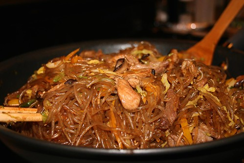 Japchae or Chapchae - Korean noodles