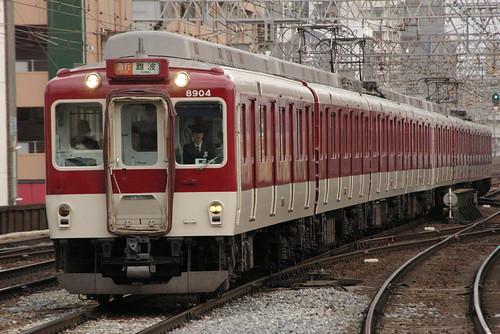 Kintetsu8800series in Tsuruhashi,Osaka,Osaka,Japan 2009/2/21
